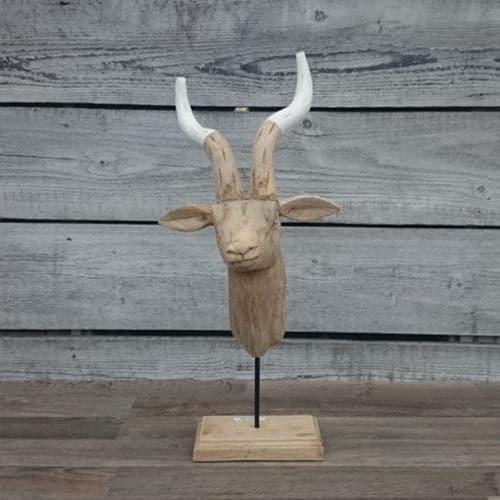 Cool herten hoofd hout with hertenkop hout for Gewei kunststof