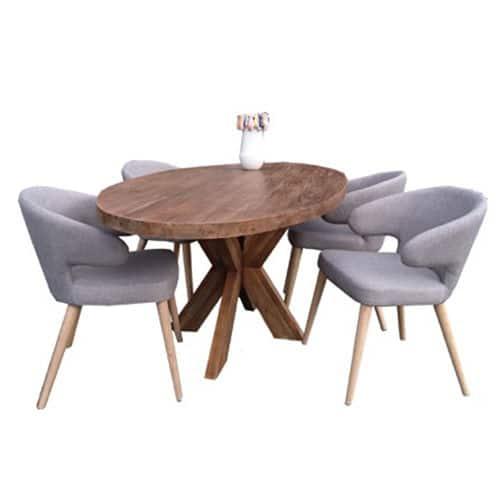 Eetkamertafel Ovaal : Eetkamertafel ovaal teak designer meubelen ...