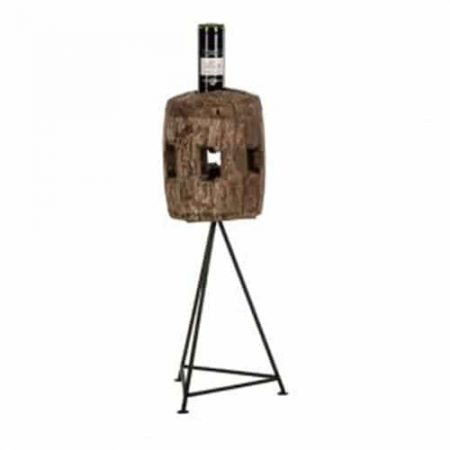 Flessenhouder houtblok