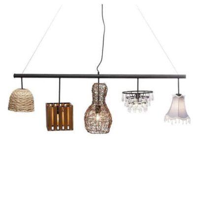 Hanglamp met verschillende lampenkappen