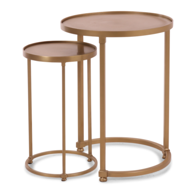 Bijzettafel Zurich Goud set - Livik meubelen