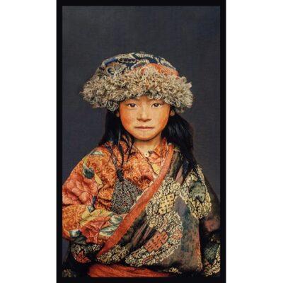 Geweven schilderij Tibetan Child - Livik meubelen