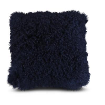 Sierkussen Mongools lamsvacht blauw - Livik meubelen