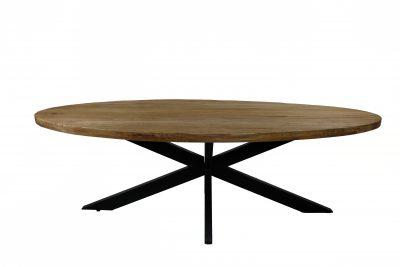 Eetkamertafel teak ovaal - Livik meubelen