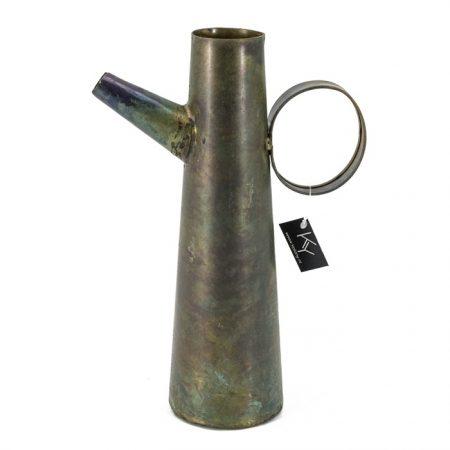 vaas met oor groen brons - Livik meubelen