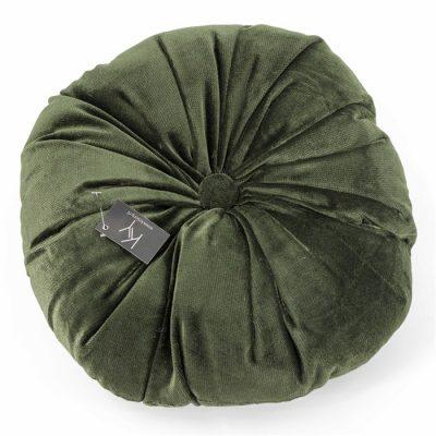 Rond Velvet kussens 40x40 groen - Livik