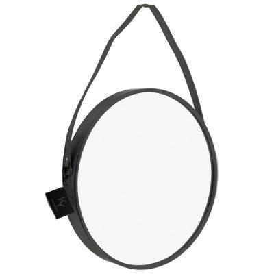 Spiegel rond zwart 60x60cm. - Livik meubelen